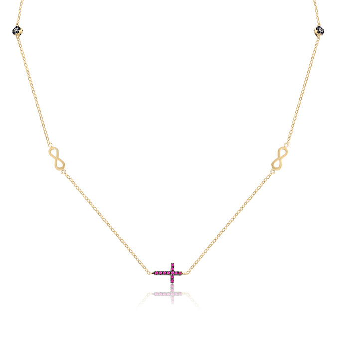 Vergina nyaklanc arany ekszer 068